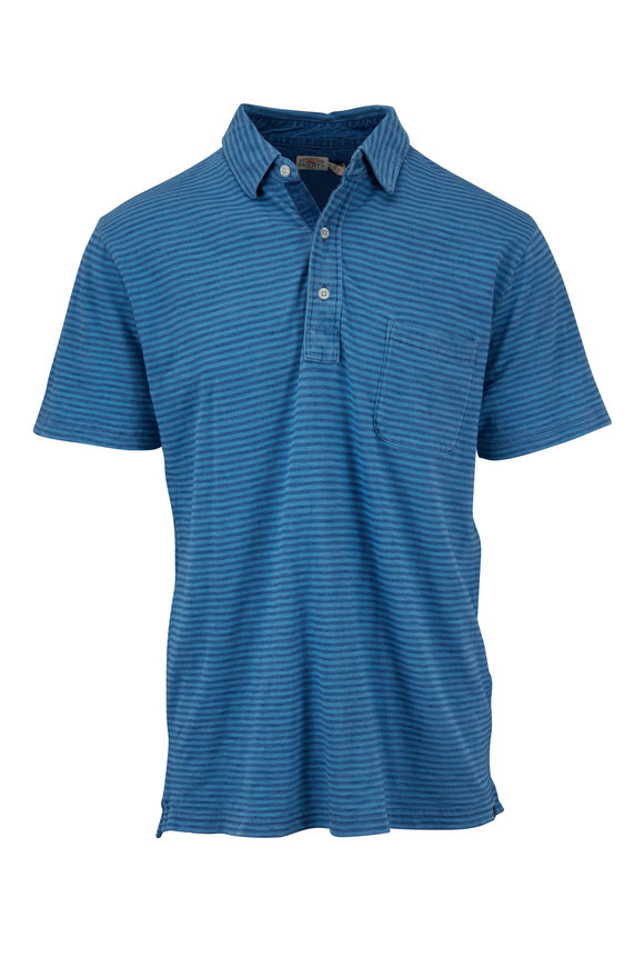 Faherty Brand Salt Wash Blue Stripe Polo