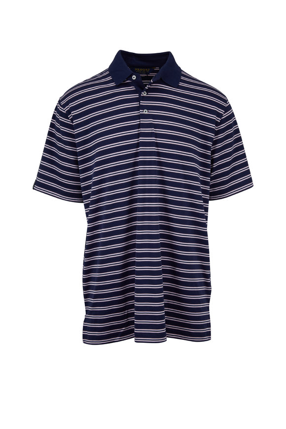 Polo Ralph Lauren Navy Stripe Short Sleeve Polo
