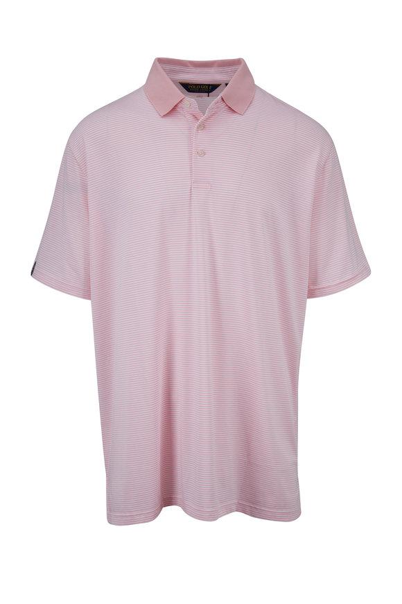 Polo Ralph Lauren Pink Stripe Short Sleeve Polo