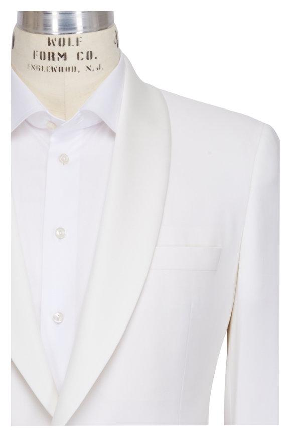 Samuelsohn White Shawl Dinner Jacket