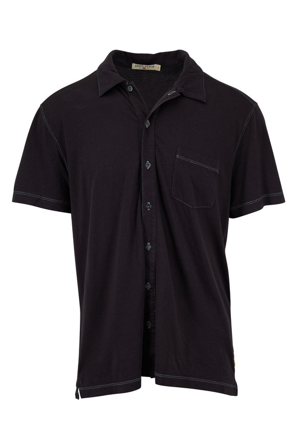 Agave Fort Point Black Cotton Blend Polo