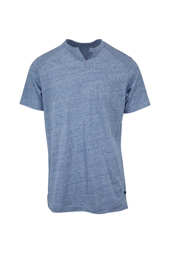 Good Man Brand Blue Heather Cotton Pocket T-Shirt