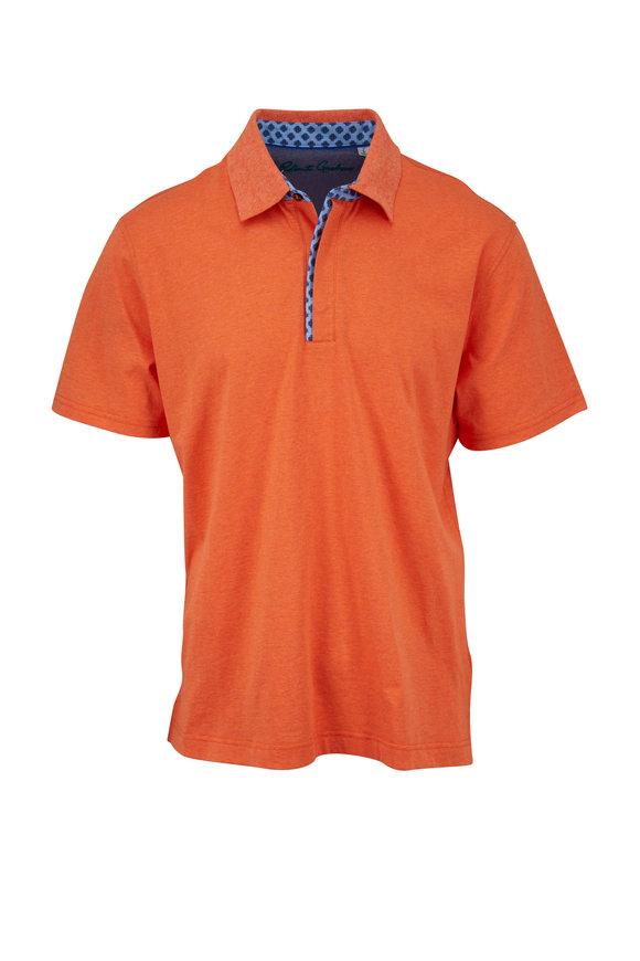 Robert Graham Diego Orange Classic Fit Polo