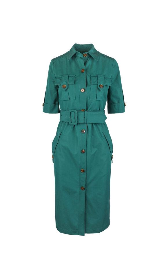 Derek Lam Green Utility Shirt Dress