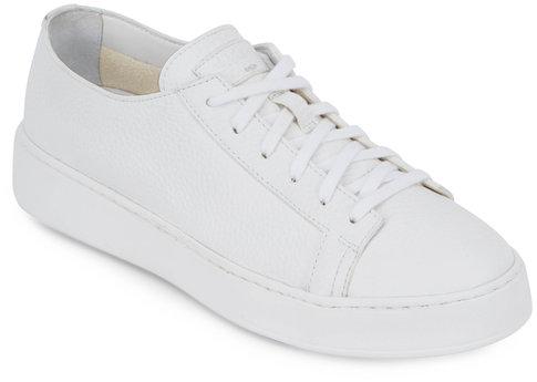 Santoni Clean Iconic White Leather Sneaker