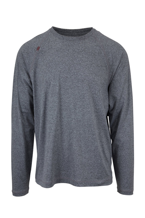 Rhone Apparel Reign Gray Heather Long Sleeve T-Shirt