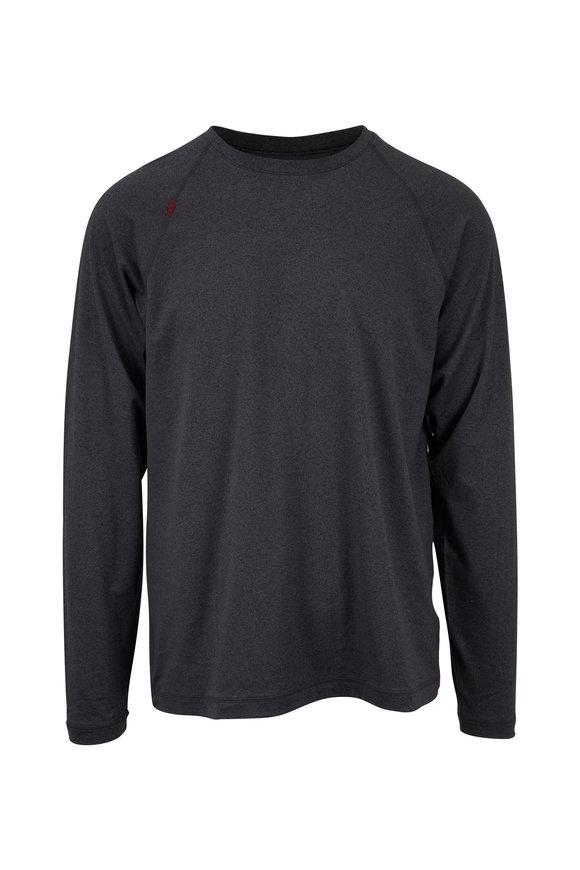 Rhone Apparel Reign Black Heather Long Sleeve T-Shirt