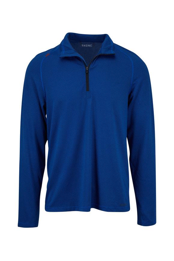 Rhone Apparel Sequoia Blue Performance Quarter-Zip Pullover