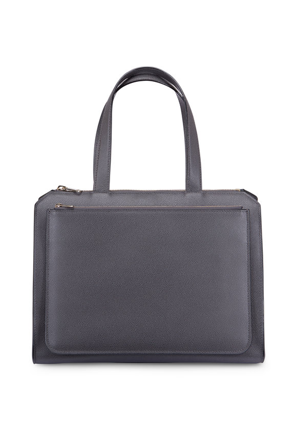 Valextra Passpartout Grande Grey Bag