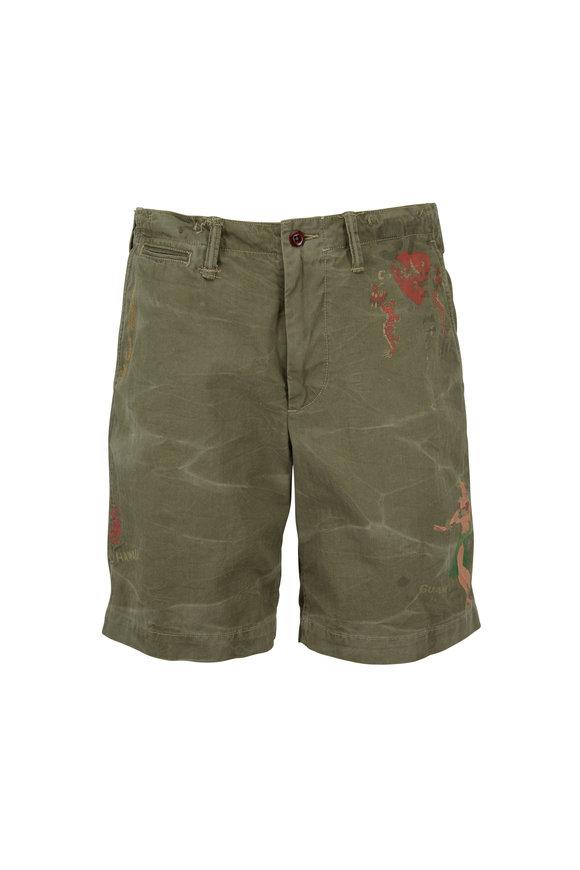 Polo Ralph Lauren Mountain Green Herringbone Twill Shorts