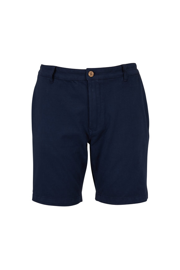 Tailor Vintage Navy Stretch Cotton Walking Shorts