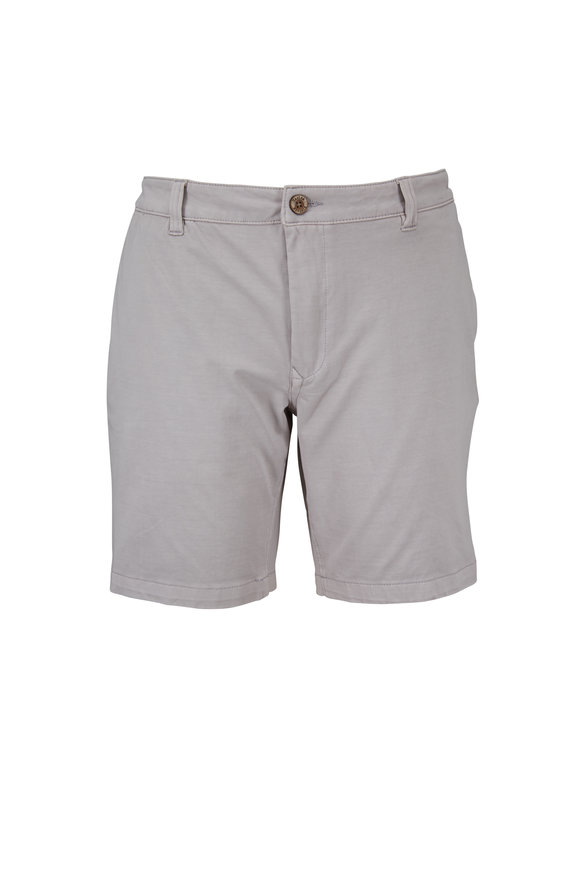 Tailor Vintage Gray Stretch Cotton Walking Shorts