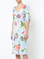 Carolina Herrera - Light Blue Floral Dress