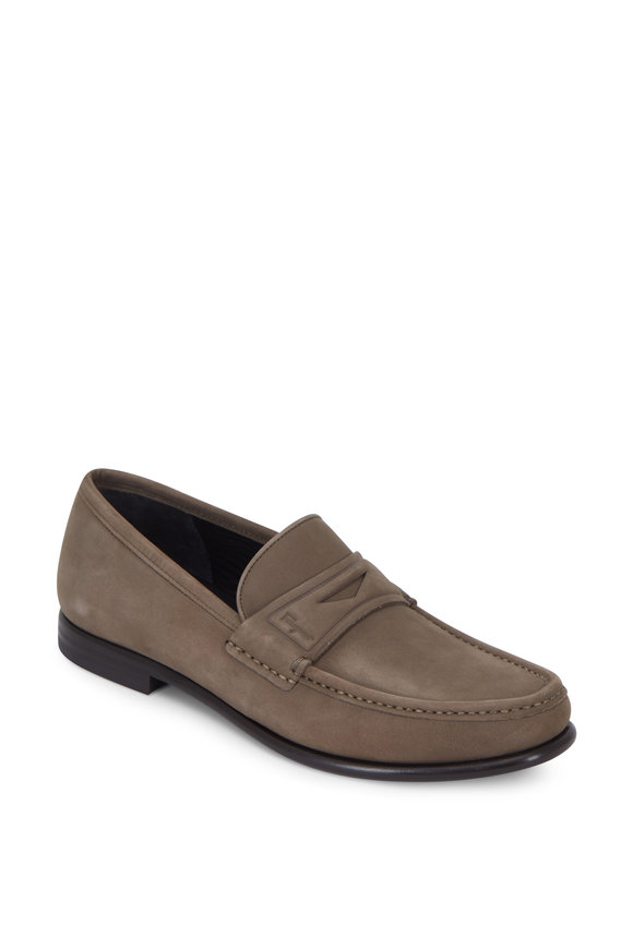 Salvatore Ferragamo Connor Sepia Suede Loafer