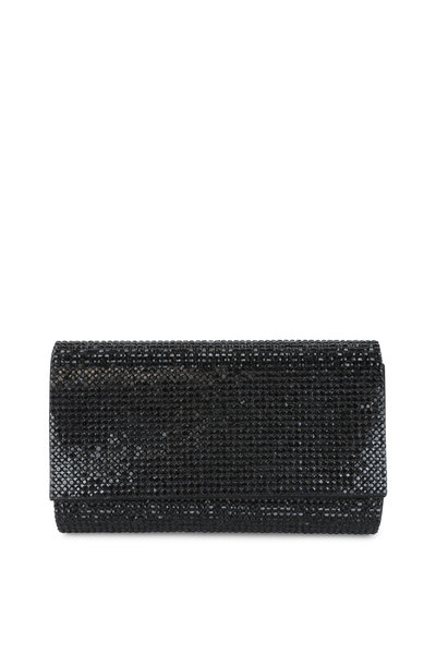 Judith Leiber - Fizzy Black Full Bead Clutch