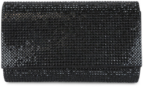 Judith Leiber Couture Fizzy Black Full Bead Clutch