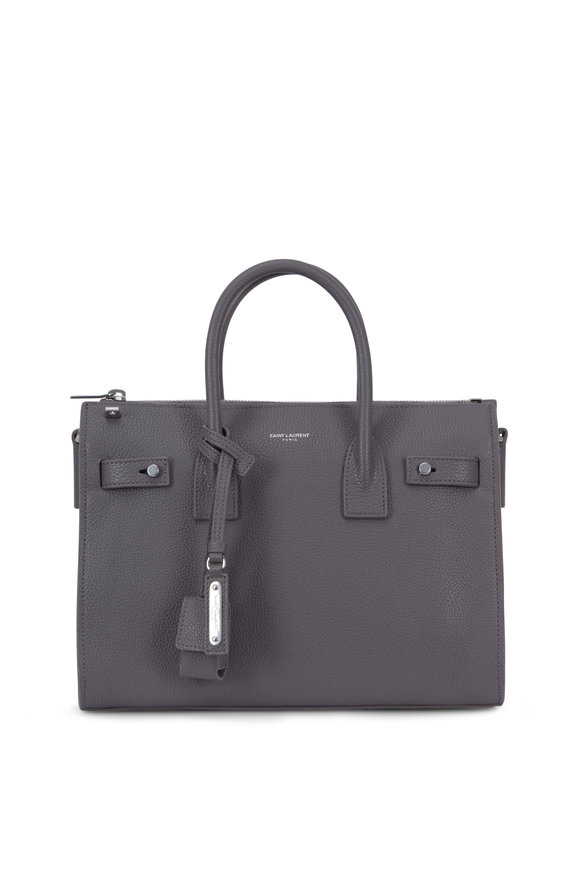 Saint Laurent Baby Sac De Jour Fog Grained Leather Tote