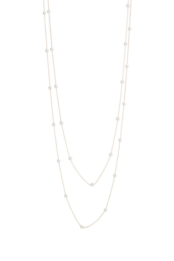 Mizuki Yellow Gold Akoya Pearl Strand Necklace