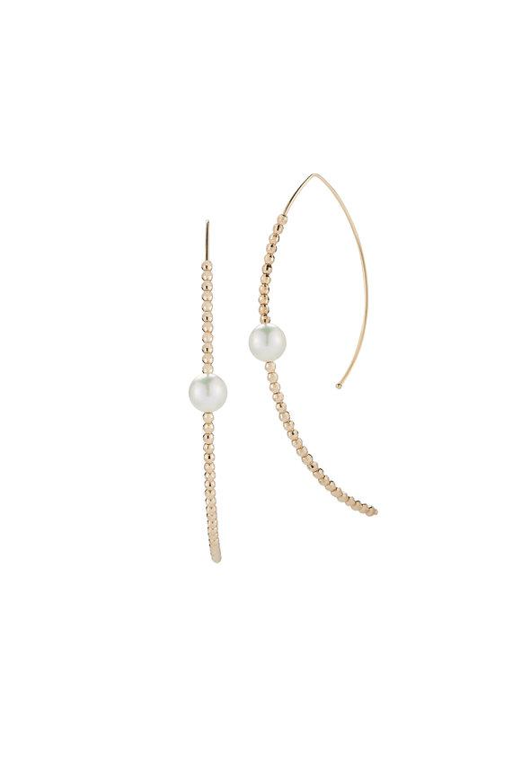 Mizuki 14K Pearl Hoop Earrings