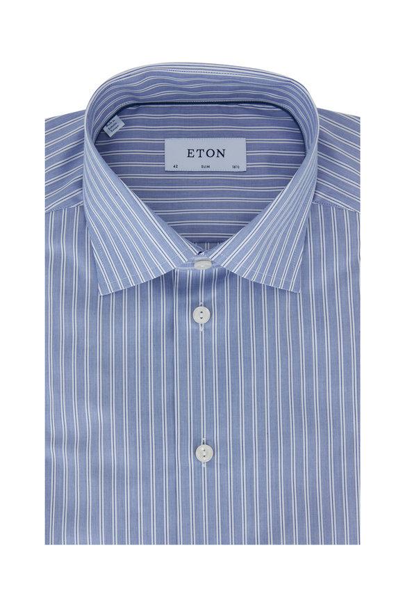 Eton Blue Striped Slim Fit Dress Shirt