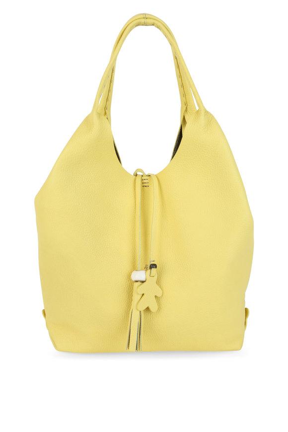 Henry Beguelin Canotta Yellow Leather Hobo Bag