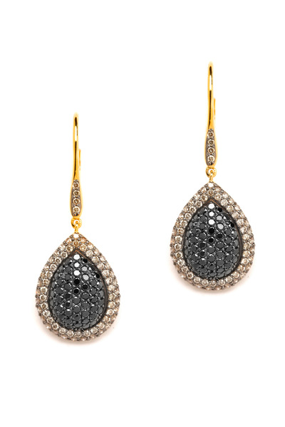 Syna - Black Diamond Mogul Earrings