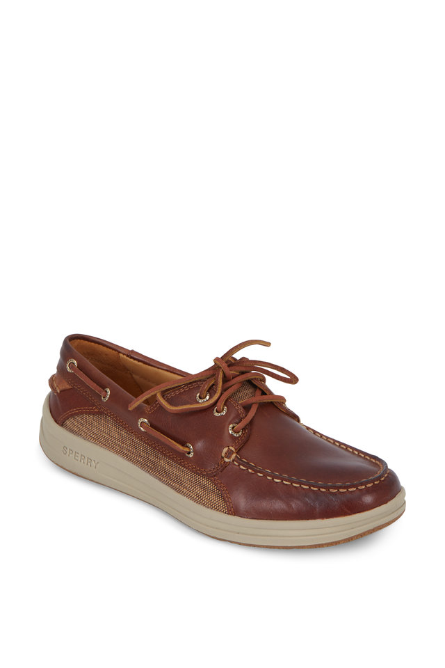 Gold Gamefish Brown Leather Boat Shoe