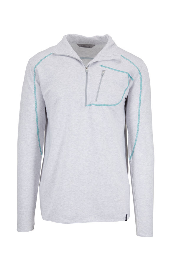 tasc Performance Light Gray Tahoe Fleece Half-Zip Pullover