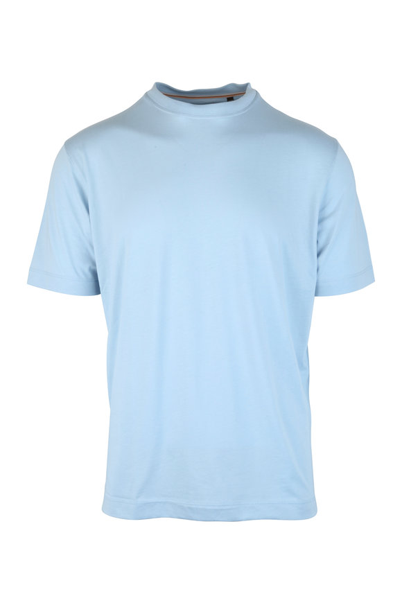 Left Coast Tee Sky Blue Crewneck T-Shirt