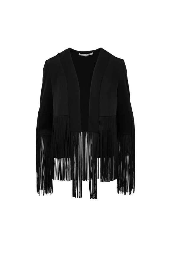 Galvan Cortdao Black Fringed Jacket