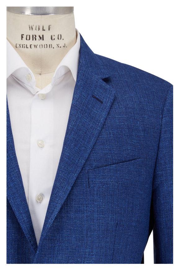 Maurizio Baldassari Blue Wool & Linen Sportcoat