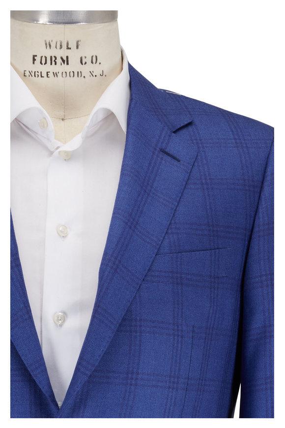 Canali Blue Windowpane Sportcoat