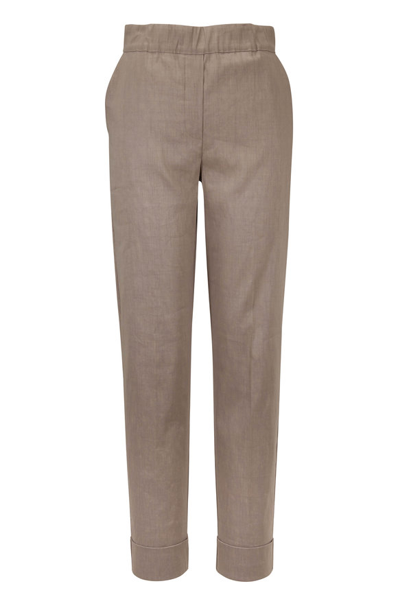 D.Exterior Taupe Cuff Pull-On Pant