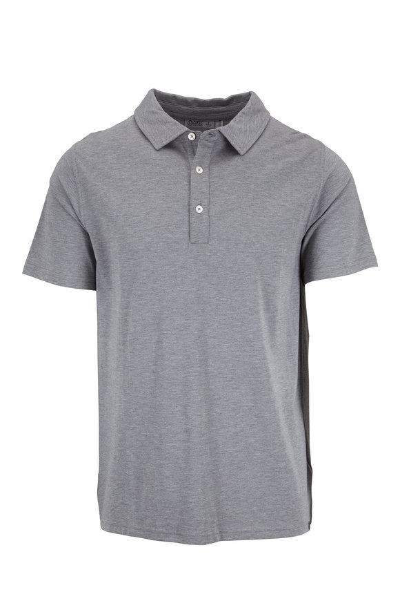 tasc Performance Gray Pimaluxe Short Sleeve Polo