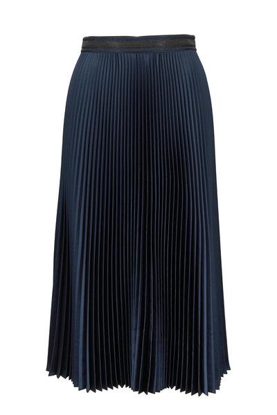 Brunello Cucinelli - Dragonfly Satin Plisse Midi Skirt