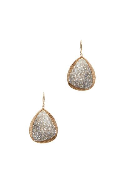 Dana Kellin - Yellow Gold Sapphire & Diamond Drop Earrings
