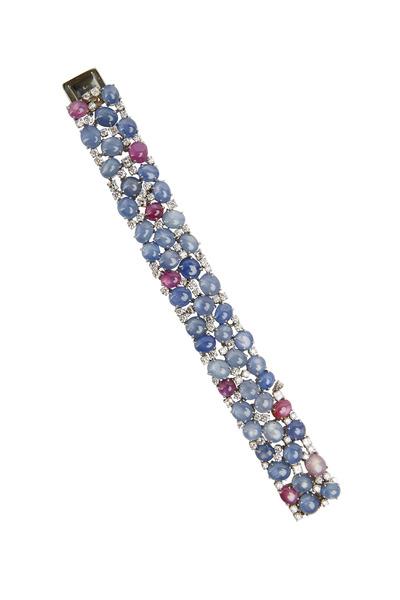 Oscar Heyman - Platinum Star Sapphire & Diamond Bracelet
