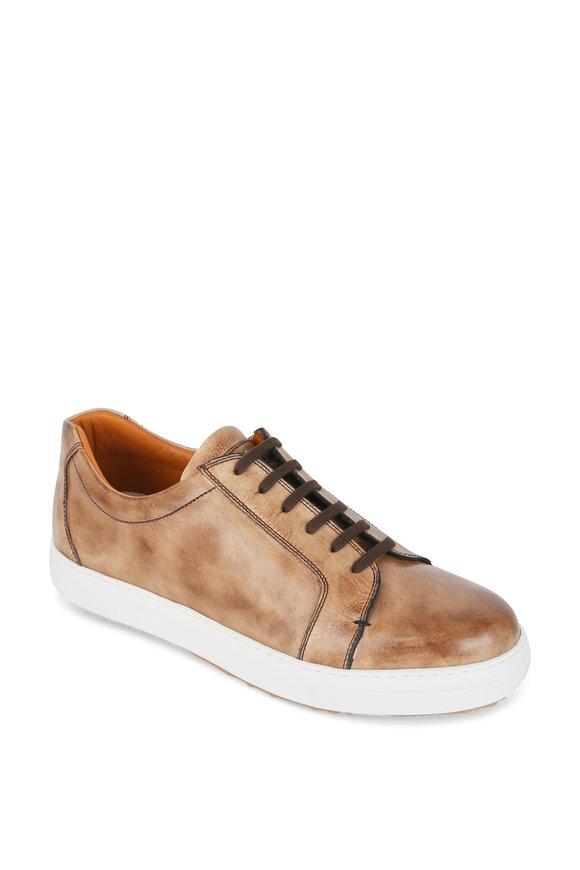 Bontoni Sportivo Beige Burnished Leather Sneaker