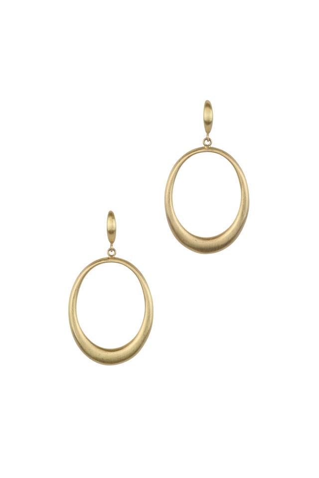 20K Yellow Gold Doorknocker Earrings