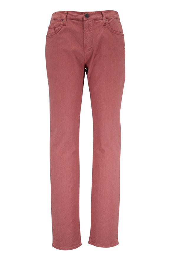 J Brand Kane Red Regular Fit Pant