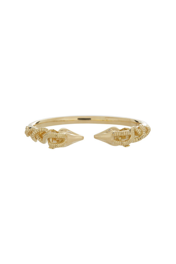Temple St. Clair 18K Yellow Gold Gazelle Bella Bangle