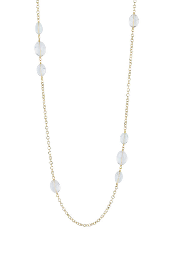 Caroline Ellen 18K Yellow Gold Goshenite Cable Chain Necklace