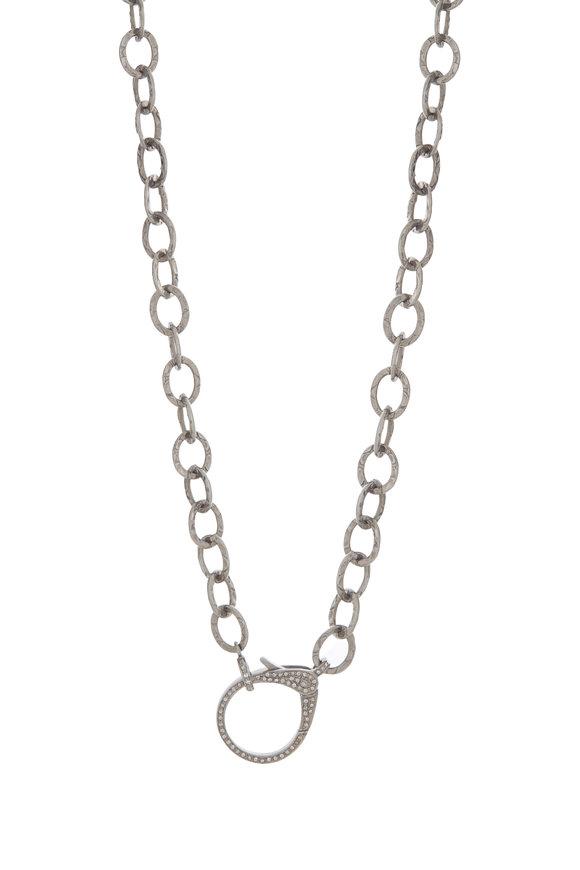 Dilara Saatci Sterling Silver Diamond Clasp Chain Necklace