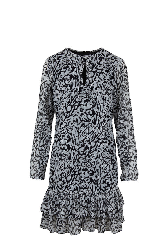 Donna Degnan Black & White Print Mini Dress