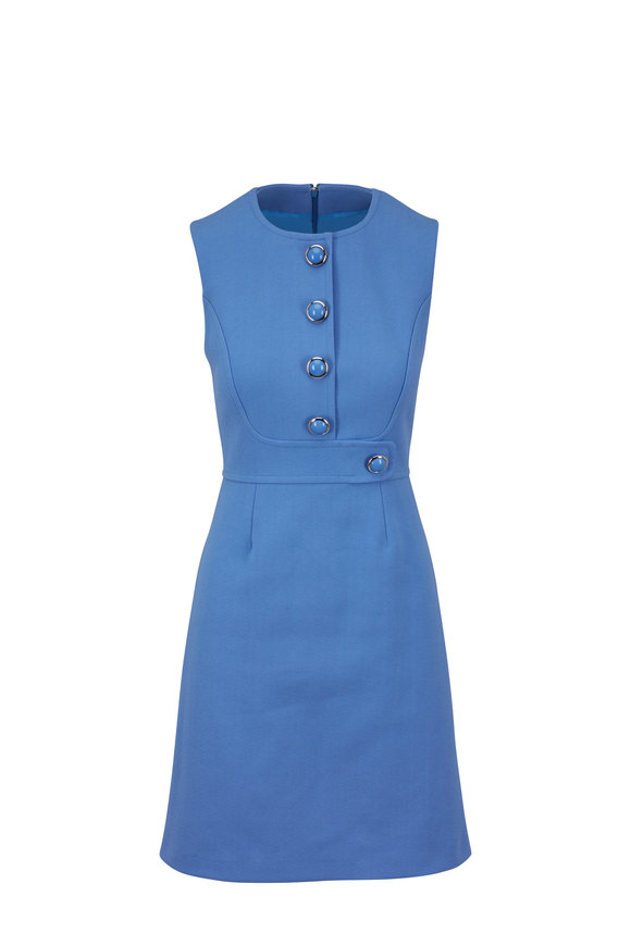 Michael Kors Collection Cornflower Stretch Cotton Crêpe Shift Dress