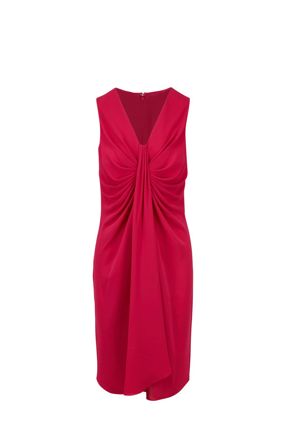 Michael Kors Collection Hibiscus Silk Twist Sleeveless Shift Dress