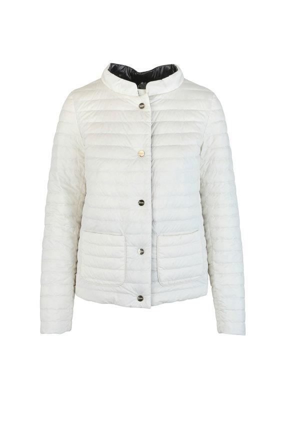Herno Ivory & Black Reversible Puffer Jacket