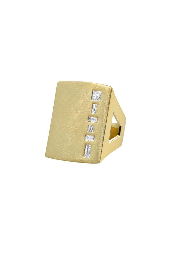 Julez Bryant 18K Yellow Gold Mixed Diamond Ring