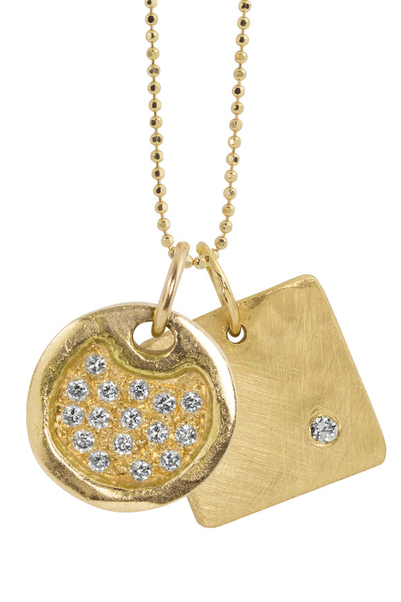 Julez Bryant 14K Yellow Gold Dena & Mora Charm Necklace