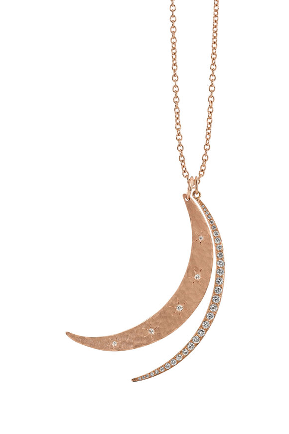 Julez Bryant 14K Rose Gold Combination Crescents Necklace